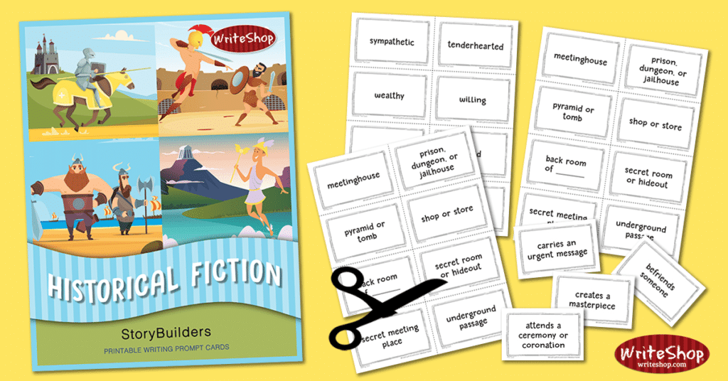 Historical Fiction StoryBuilders | Printable Writing Prompt Cards