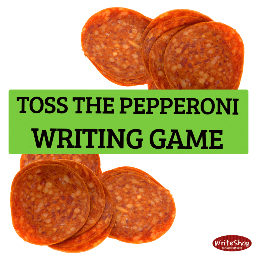 TOSS THE PEPPERONI WRITING GAME