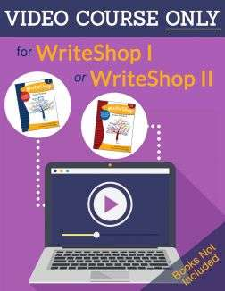 A video course for homeschooling parents who need extra help teaching WriteShop II. Videos teach student lessons and train parents to edit and grade.