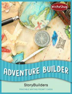 Adventure Builder StoryBuilders let kids mix and match printable writing prompt cards to write exciting adventure tales!