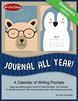 Journal All Year! Elementary Calendar Prompts - Printable Download