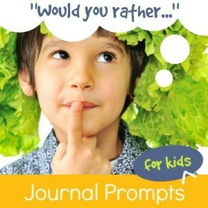 "These ""Would You Rather"" journal prompts invite kids to make lists, write stories, or explain their choices. Fun for the whole family!"