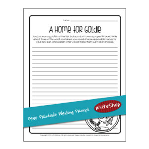 With this free printable writing prompt, your children think of awful alternatives to the normal fishbowl and explain why they just won't work!