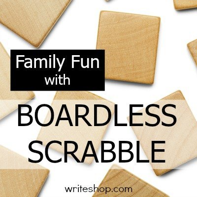 Pre-writing activities disguised as games such as Boardless Scrabble make it so much more fun to learn and practice vocabulary and spelling skills.