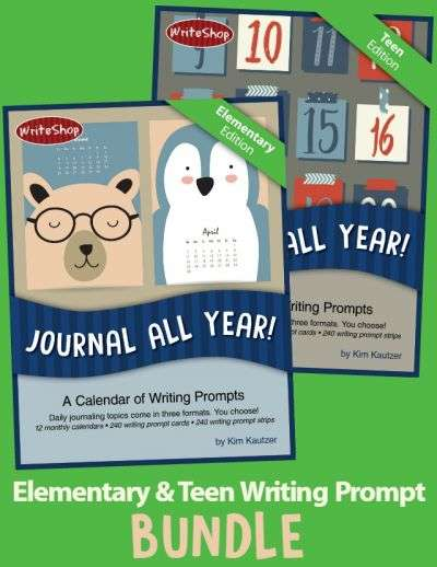 Journal All Year! Writing Prompt Calendar Bundle includes 480 writing and essay prompts | Elementary + Teen