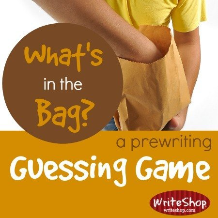 The What's in the Bag game is a fun prewriting guessing game that introduces or reinforces the concept of concrete or descriptive writing. Fun for all ages!