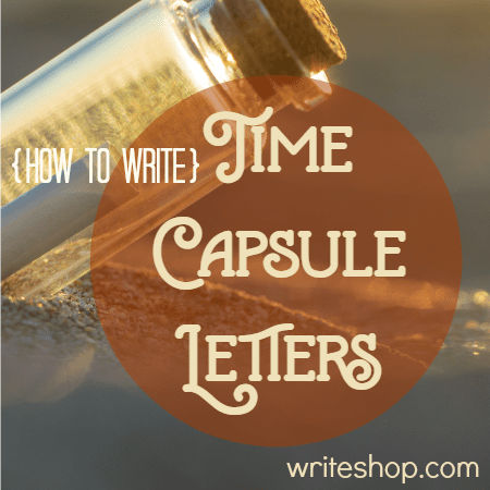 Help your kids write a time capsule letter! In the future, their items and letters will give valuable clues about what life was like in the 21st century.