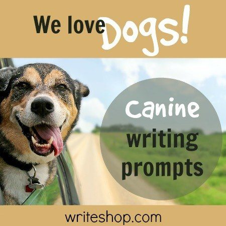 If your kids have a dog, writing prompts about canine tricks, search and rescue teams, and a puppy business will fire up their creative writing!