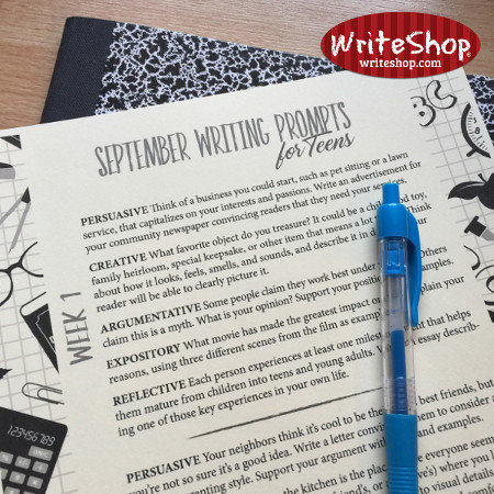 The 20 writing prompts in this free printable September writing prompt calendar provide the perfect amount of structure to stimulate your high schooler while allowing for plenty of creative expression.