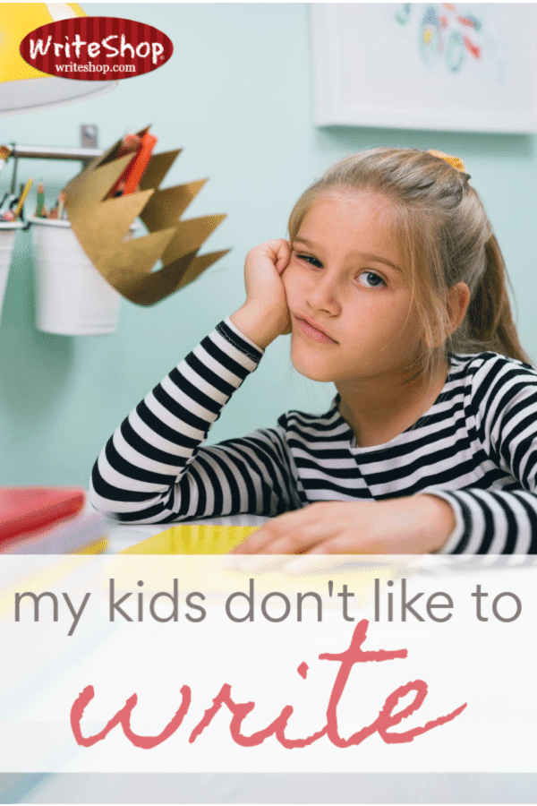What's a homeschooling mom to do when your kids don't like to write? Parental involvement is key, but it also helps to choose the right materials!