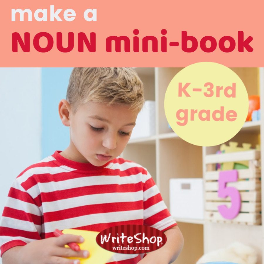Make a noun mini-book with your primary-age children to introduce the concept of nouns.