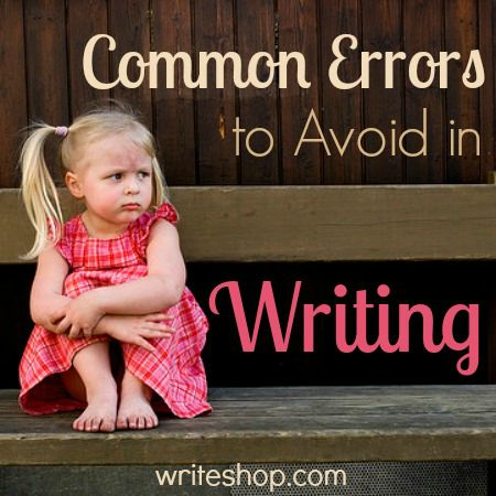 Common errors to avoid in writing